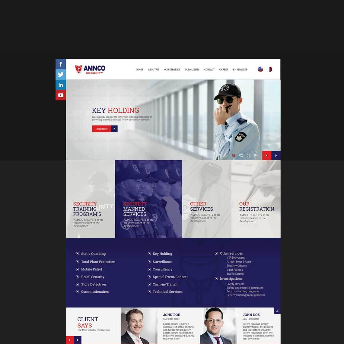 website design - Amnco Security