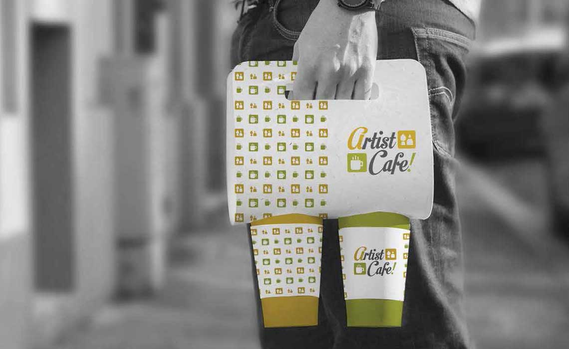Artist Cafe branding by whyte creations qatar