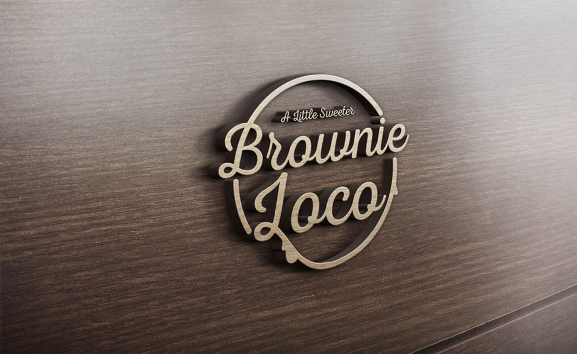 design a logo for BrownieLoco