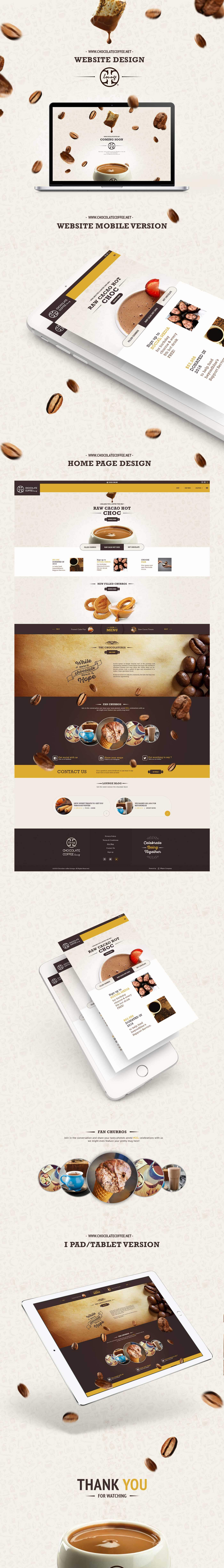 Chocolate Coffee Lounge's website design and development by Whyte Company