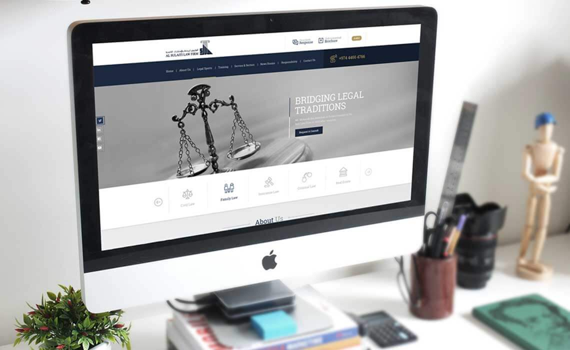 website design and development for alsulaiti law firm