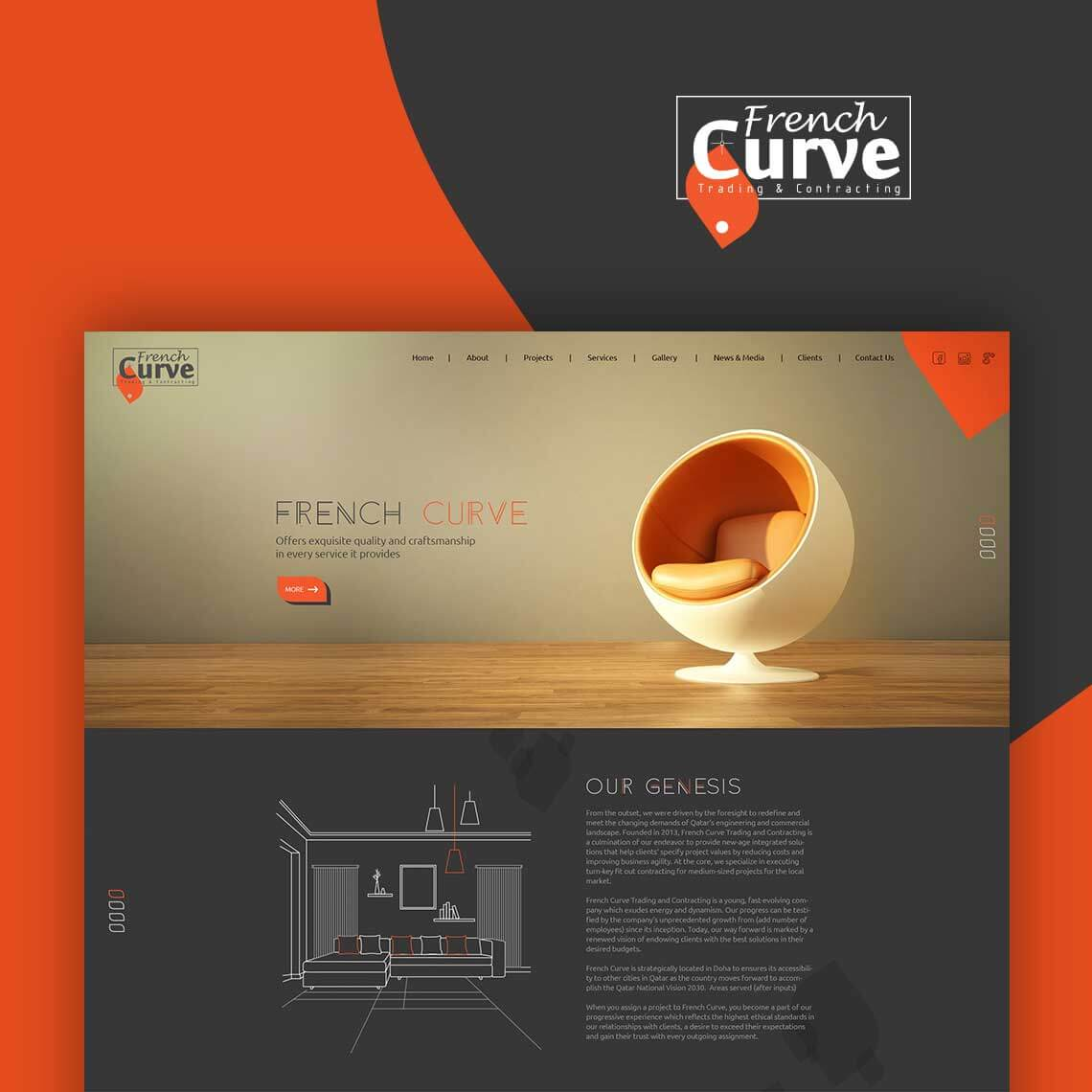 website design for French Curve